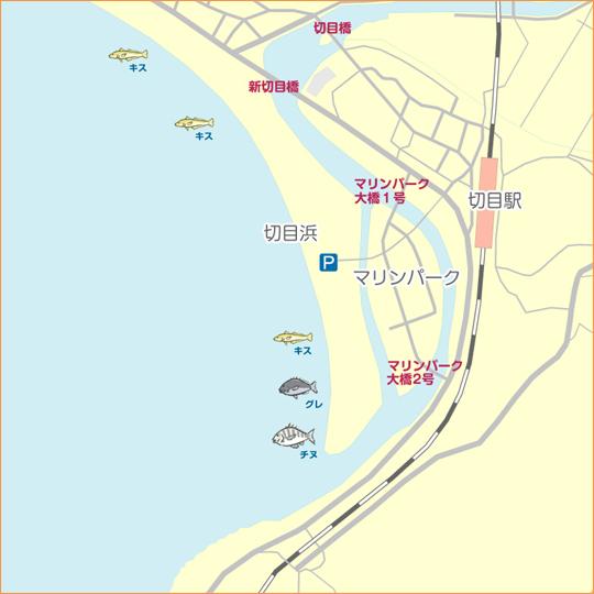 切目川河口 陸っぱり 釣り・魚釣...