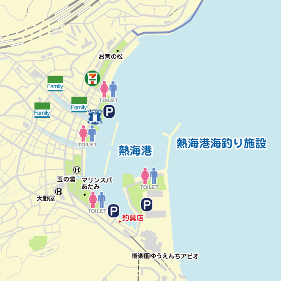 熱海港 陸っぱり 釣り・魚釣り |...