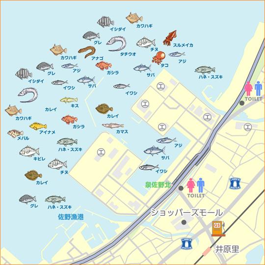 コンビナート 泉佐野 釣果 食品