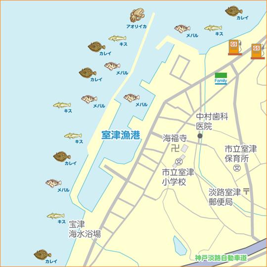 室津 陸っぱり 釣り・魚釣り   釣果情報サイト カンパリ