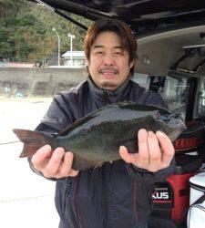 串本の磯 フカセでグレ41cm