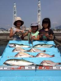 釣り堀でファミリーフィッシング!色々な魚が釣れました♪