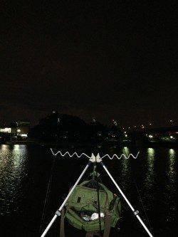 武庫川河口 ぶっこみ釣りでウナギ狙い ウナギもいよいよシーズンイン