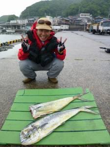 沖一文字でシイラ〜ペンシルとミノーでの釣果です