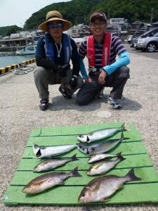 神谷一文字 カゴ釣りでグレ・イサギ・ゴマサバ