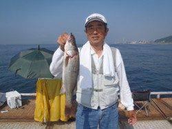 須磨海づり公園 ウキ流し釣りでナイスサイズのハネ