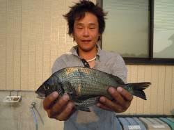 紀州釣りでのチヌ、エサはコーン 湯浅の磯