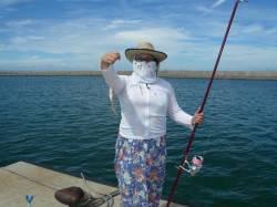 鳥飼漁港旧港と新港にて投げ釣り〜それぞれ1時間程度でキス計20匹ほど