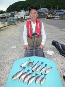 ヒラバエのカゴ釣りでチャリコ・カワハギ・イサギ・ゴマサバ