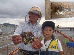 ハゲカケ仕掛けでカワハギ22.2cm 須磨海づり公園