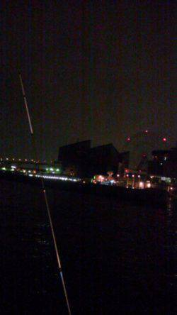 大阪南港アジング サバ一匹で雷のため撤収しました