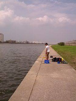 武庫川 ちょい投げハゼ、子供と2人3時間程で50匹