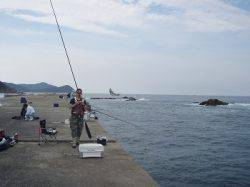 神谷 沖向きでカゴ釣り、イサギがHIT!