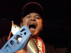 舞洲アジング釣行 AM03:00頃に4匹釣れました