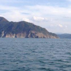 赤礁 一文字に渡ってエギング、昼前後に時合ありアオリイカゲット