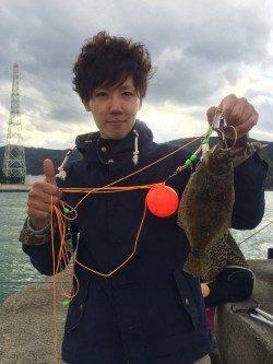 マリーナシティ海釣り公園 カゴ釣りでヒラメの釣果