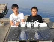 黒島の磯 ヤエンでアオリイカ1.2kg エギングでも釣れてます