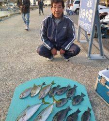 神谷一文字 カゴ釣りでハマチ6本 ほかグレ・アイゴなど