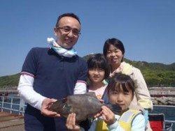 須磨海釣り公園 サビキにウマヅラハギ35cm