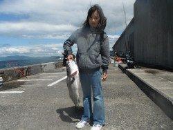 北港海釣公園 スズキ72cmの釣果