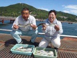 神戸市立須磨海づり公園 食べ頃サイズのアジ釣れてます