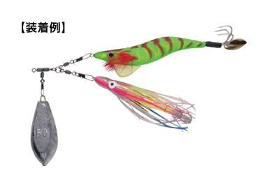 船蛸ゲーム、2個の蛸エギや蛸スッテを一つのスイベルに装着【船タコツインスイベル】