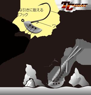 ボトムで立ち根掛かりしにくい低重心設計のクロダイ、ロックフィッシュ用ジグヘッド【スリーパーホールド】