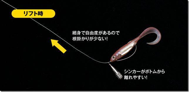 (゚∀゚)キタコレ!! 韓国発祥のフリリグ(Free Rig)はブラックバス~黒鯛、キビレ、ロックフィッシュに超有効な超絶シンプルリグ