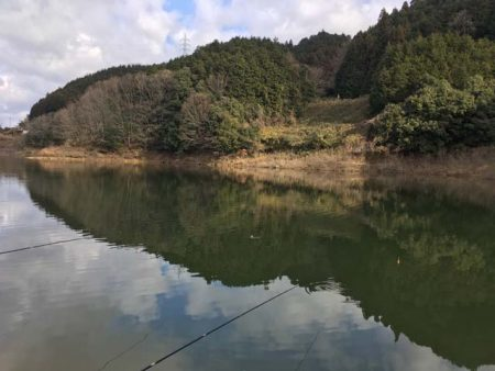 布目ダムで今年の初釣り