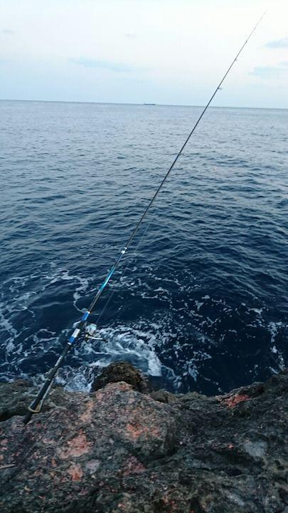 やっと確保した釣り場
