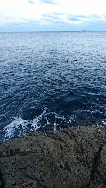 ドン深ポイントの釣り座